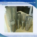 Filtro perfurado do metal para o equipamento de matéria têxtil