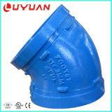 ASTM a-536 Ductilie Eisen, das den 45 Grad-Krümmer für Entwässerungssystem wirft