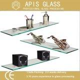 mensola vetro/vetro libera/glassata di 10mm della mensola Tempered per Showeroom/angolo della parete