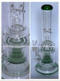 De sterke Waterpijpen van het Glas van de Kwaliteit Rokende met de Kam Perc van de Honing