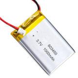 Nachladbare Li-Polymer-Plastik Batterie 3.7V 1000mAh