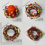 Candela Rings per Christmas Wreath Decoration Artificial Flower