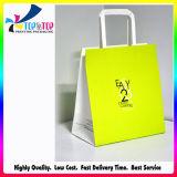 Diseño personalizado portátil bolsa de papel de regalo con la manija