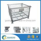 De Container van het Netwerk Draad van de staal van de Industrie met Wielen