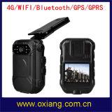 Appareil-photo externe usé par corps de support d'appareil-photo de police du WiFi 4G 3G mini