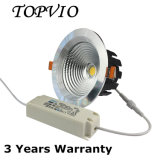 Cubierta de techo de alta calidad 10W / 15W / 20W / 30W LED Downlight con Lifud Driver