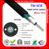 conducto acorazado del tubo multi 8core y cable óptico aéreo de fibra del HDPE de GYXTW