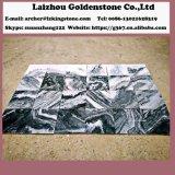 元の曇った灰色の大理石の石造りの平板