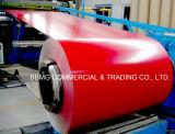 A cor galvanizada Prepainted revestiu a bobina de aço de aço da bobina PPGI