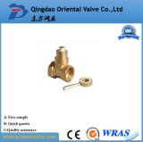 Valvole a sfera d'ottone di consegna veloce di fabbricazione del fornitore della Cina 1 - 1/2 con superiore