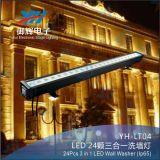 Im Freien Farbe RGB-IP65, die Wand-Unterlegscheibe-Licht LED-24PCS ändert