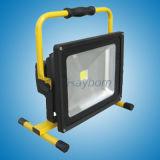 Proyector LED recargable 50W LED lámpara portátil con Ce RoHS