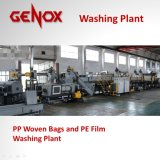 Plastique de sacs tissé par pp de grande capacité lavant réutilisant la machine
