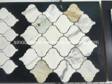 Mosaico de mármol blanco con patrones libres, ideal para Hotel and Club