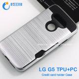 Caixa do telefone de pilha para LG G5, caixa do suporte de cartão do crédito