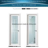 Прикрепленный на петлях алюминий/дверь Casement/ванной комнаты с двойным слоем закалили
