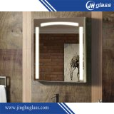espejo encendido LED de plata del rectángulo de 5m m para el cuarto de baño