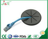 Weiße flexible Gummitülle für Durchlauf-Drähte und Kabel