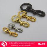 Gancho de leva de cobre amarillo de la venta del metal del broche de presión del gancho de leva del gancho de leva caliente del perro para los bolsos del diseñador de los bolsos