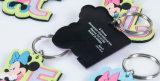 3D promocionais Porta-chaves aduaneira chaveiro em PVC maleável