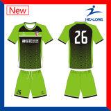 Healong中国の安い価格の服装ギヤホームか昇華フットボールのジャージーの離れたワイシャツ