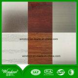 Finestra di alluminio superiore della stoffa per tendine con rivestimento di legno