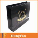 Подгонянный мешок Hotstamping золота логоса бумажный
