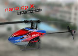 Mini Flybarless 6CH RC Helicopter Wasp Nano Cpx 3D 2,4 GHZ Brushless version RTF (case de couleur)