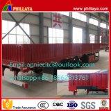 De Semi Aanhangwagen van het Vervoer van de Container van de zijgevel