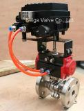 Válvula de esfera de aço pneumática do API