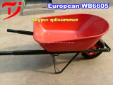 Carriola di plastica Wb3500 della riga della barra di rotella con 3 rotelle