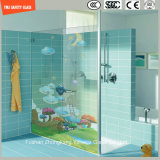 l'impression de Silkscreen de peinture de Digitals d'image de dessin animé de 3-19mm/sûreté acide de configuration gravure à l'eau forte a gâché/verre trempée pour le mur/douche /Bathroom avec SGCC/Ce&CCC&ISO