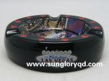 Cenicero de cerámica negro del cigarro de Yg004