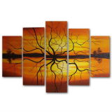 100% Life Oil Painting Thick Texture 5PCS/Set Wholesaler의 손으로 그리는 Contemporary Art Abtract Tree