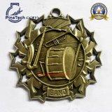 Premi personalizzati della medaglia di musica con rivestimento antico dell'oro