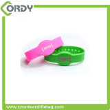 Wristband impermeabile del silicone della modifica di 13.56MHz RFID per controllo di accesso