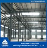 倉庫のための鋼鉄の梁が付いているプレハブの軽い鉄骨構造の構築