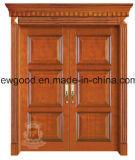 De houten Deur van de Ingang, de Deur van de Ingang van de Villa, de Houten Deur van de Ingang Doulbe