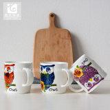 Copos de chá cerâmicos do logotipo de Companhia da impressão de cor cheia de Cliente
