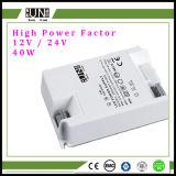 Ce di 40W 12V, IEC, alimentazione elettrica di RoHS LED, con il fattore di alto potere, alimentazione elettrica della striscia del LED, trasformatore del LED, alimentazione elettrica 40W, driver di 36W LED