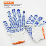 Ранг K-60 перчатки связанные абажуром хлопка работая