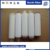 Candela filtrante pieghettata microporosa dell'acqua da 10 pollici