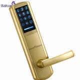Alta Segurança Electrónica pintado a ouro Hotel RFID da fechadura da porta do cartão digital de senha
