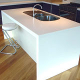 Partie supérieure du comptoir extérieure solide acrylique de cuisine