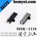 製造業者のSMDのタイプ(MSK-1118)が付いているマイクロプランジャスイッチかスライドスイッチ