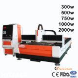 Preço da máquina de estaca do laser da fibra da fonte de Ipg 500W para o aço inoxidável