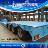 Semi Aanhangwagen van het Bed van het Vervoer van de apparatuur de Lage voor Verkoop