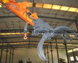 Excavador de la rueda de Shandong con Grasper para la madera/la caña de azúcar del cargamento