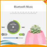 A melhor escolha do presente a música do piano da planta do toque que joga o altofalante esperto de Bluetooth do Flowerpot