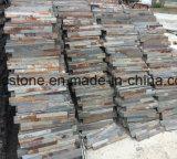 10*40 중국 자연적인 P014 슬레이트에 의하여 겹쳐 쌓이는 돌 Hhsc10X40-004